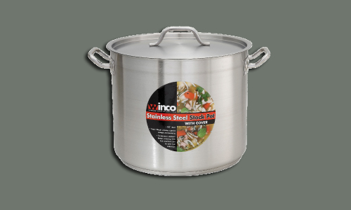 S/S Stock Pot 32 Qt w/ Cover, 14 1/4