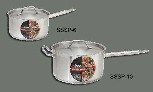 S/S Stock Pot 3.5 Qt w/ Cover, 7 7/8