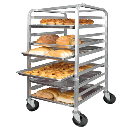 10 Tier Aluminum Pan Rack, NSF