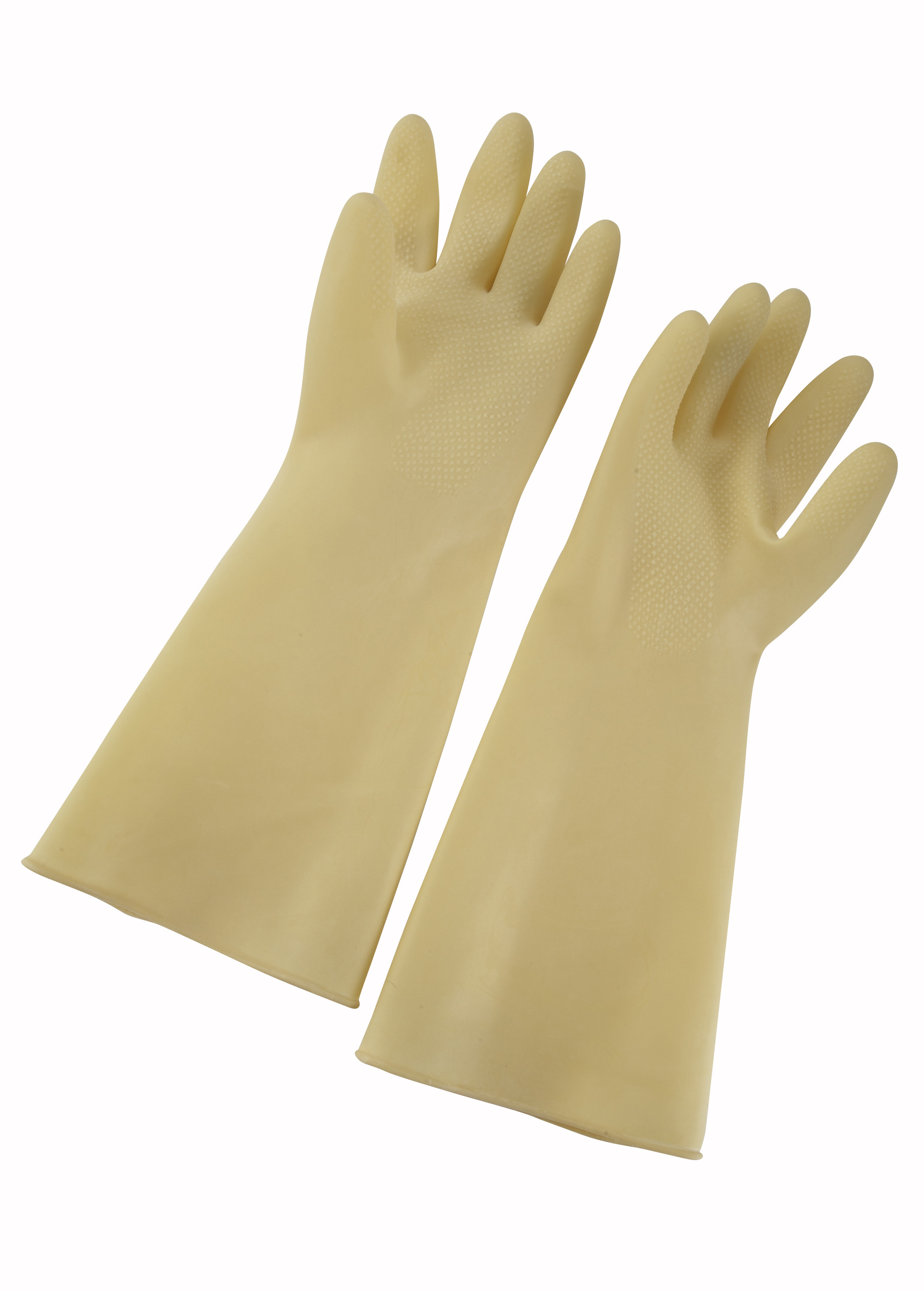 Natural Latex Gloves, 8 1/2