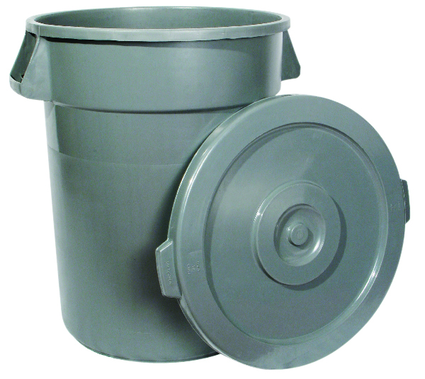 Lid for 32 Gallon Trash Can, Grey